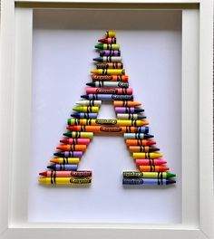crayola letter art by the letteroom   notonthehighstreet.com