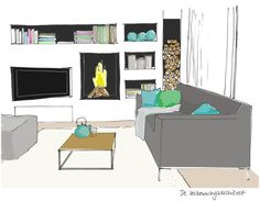 5 interior design tips for your living roomdesign Interior Design Tips, Living Room Inspiration, Home Decor Bedroom, Bungalow, Office Desk, Corner Desk, Sweet Home, New Homes, House
