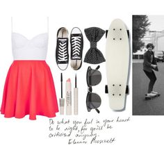 how to wear skater skirt with converse 10