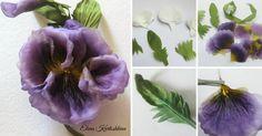 В этом мастер-классе мы сделаем простой, но очень красивый и объёмный цветок — Анютины глазки. Как и в любом цветке из ткани, результат зависит от самой ткани. Можно сделать совсем маленькие 'анютки', к примеру, как наполнение венка или даже букета, соответственно взяв ткань самую нежную и тонкую — шифон, органза, эксельсиор. Или, как в моем случае, одиночный цветок с крепление…