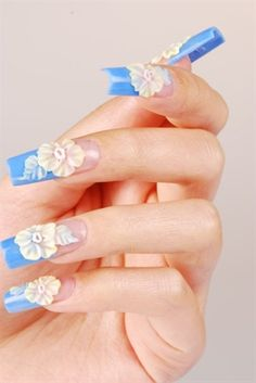 flower nails by ElaineWatson - Nail Art Gallery nailartgallery.nailsmag.com by Nails Magazine www.nailsmag.com #nailart