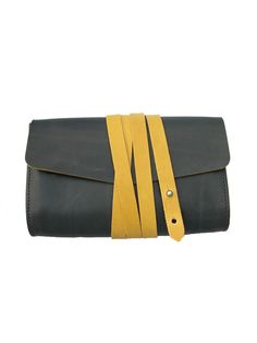 Love!! Garrard clutch- Navy/mustard - M.Hulot - Independent Boutique