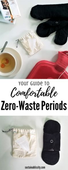 Everything you need for a Comfortable Zero-Waste Period Recipe Drawing, Recycling Information, Clean Living, Natural Cleaning Products, Sustainable Living, Natural Living, Zero Waste, Natural Health, Health And Wellness