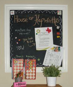 Guest Tutorial  make a DIY Magnetic Chalkboard Message Station!