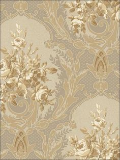 Architectural Floral Wallpaper by York Wallpaper. Take an additional off all wallpaper and fabric with Discount Code Floral Wallpaper Iphone, Fabric Wallpaper, Discount Wallpaper, Master Bedroom Makeover, Curtain Patterns, Traditional Wallpaper, Elements Of Design, Big Flowers, Flowers