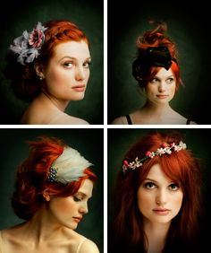 Unique hair ideas, and bold red color! my-style