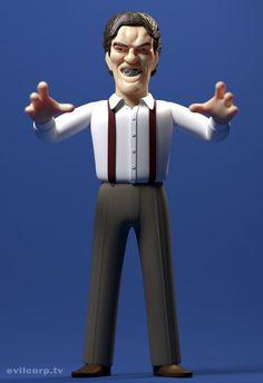 Jaws (Richard Kiel) vinyl doll by A Large Evil Corp. Custom Action Figures, Vinyl Figures, Character Inspiration, Character Design, 3d Character, James Bond Style, Geek Toys, Coffee Shop Design, Toy Art