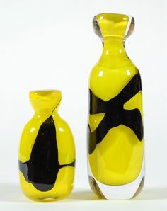 """Kosta Boda """"Charlie Brown"""" vases."""