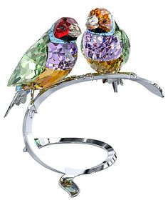 Swarovski Collectible Figurine, Crystal Paradise Gouldian Finches