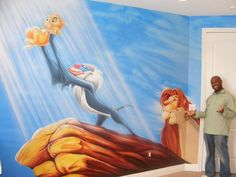 Wow... Lion King mural for a baby room. How awesome is this?!