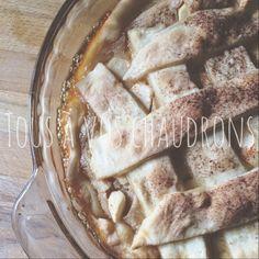 Tous à vos chaudrons: Tarte au sucre & pommes Biscuits, Apple Pie, Camembert Cheese, Dairy, Desserts, Food, Sugar Pie, Apples, Tarts