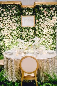 what a fabulous backdrop for the cake or photos for a fresh spring wedding.a Floral Wall! Wedding Stage, Wedding Show, Spring Wedding, Wedding Ceremony, Wedding Day, Wedding Things, Backdrop Frame, Flower Wall Backdrop, Wall Backdrops