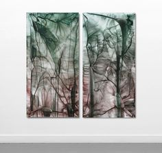 598 - 599 by Anita Levering 762 * 1524 mm each acrylic on polyester 2014