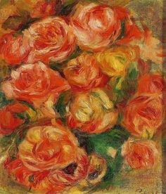 classic-art: A Bowlful of Roses Pierre-Auguste Renoir