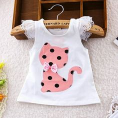 BibiCola Baby Summer Casual Clothes Set Children Short Sleeve Cartoon cat dot T-shirt + Shorts Sport Suit Clothing Sets for Girl – Kid Shop Global – Kids & Baby Shop Online – baby & kids clothing, toys for baby & kid - Babykleidung Baby Outfits, Kids Outfits, Summer Outfits, Little Girl Fashion, Kids Fashion, Fashion Outfits, Fashion Clothes, T Shirt And Shorts, Kids Shorts