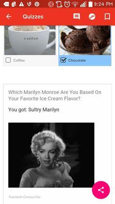 Marilyn and chocolate ice cream. Chocolate Ice Cream, Chocolate Coffee, Ice Cream Flavors, Buzzfeed