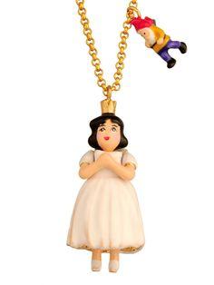 #lesnereides#N2bylesnereides#jewelry#necklace#enamel #handmade #dwarf #hobbit#apple#fairytale #snowwhite Shop on#lesnereides-usa.com