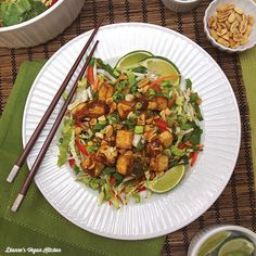"""This Stir-Fry Inspired Salad is the result of my first """"Black Box Challenge"""" in Rouxbe's Professional Plant-Based program."""