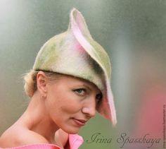 """Купить """"Яблоня в цвету"""" из коллекции """"Игра в импрессионизм"""" - разноцветный, абстрактный, маленькая шляпка, дамская шляпа"""