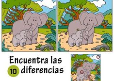 JUEGOS DE ENCONTRAR DIFERENCIAS ® Fichas infantiles Find 10 Differences, Reto Mental, Brain Breaks, Chicago, Comics, 3 Years, Puzzles, Games, Disney