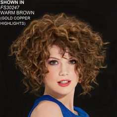 Catch the perfect wave.a touch of texture makes this Amazing Amy Wig by Wendy Williams breezy . Curly Bangs, Curly Hair Cuts, Short Curly Hair, Short Hair Cuts, Updo Curly, 4b Hair, Curly Crochet Hair Styles, Curly Hair Styles Easy, Short Hair Styles