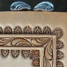 leather tooled -- framing