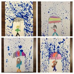 This splatter-paint project is great for integrating art into your study of rain / weather.  (Photo Only):