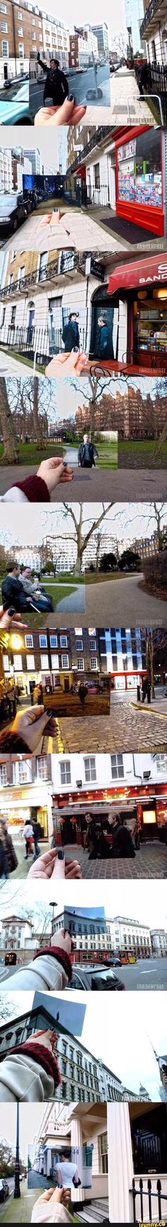 I love these! But the ones with Sherlock on the building just made my heart broke