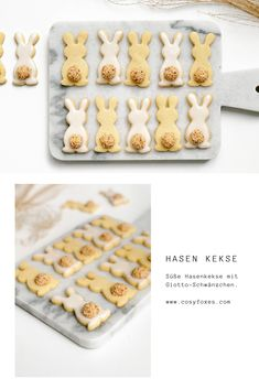 My favorite short pastry recipe for Easter . - Super simple biscuit biscuits in the shape of a rabbit. Perfect for Easter and for baking with chil - Pastry Recipes, Baking Recipes, Easy Cookie Recipes, Dessert Recipes, Cupcake Recipes, Short Pastry, Easy Easter Desserts, Shortcrust Pastry, Baking With Kids