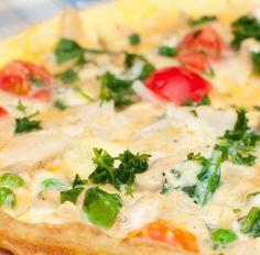Omelett mit Tomaten, Erbsen und Mozzarella Tags: