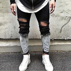 Blvck & White  via @khurshednuriddinov by lavish.fashion