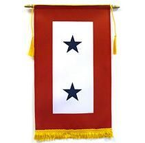 Military Service 2 Star 8inX14in Banner