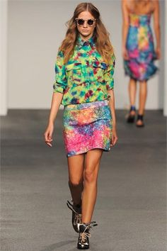 Look 25 House of Holland London - Spring 2013
