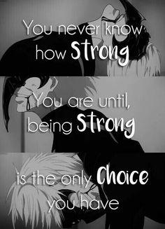 But, I am weak..