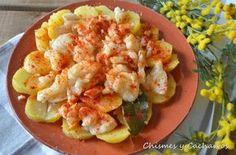 recetas de bacalao, bacalao con pimentón.