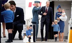 The Duke and Duchess of Cambridge have landed in Victoria, Canada, with their two children, George and Charlotte - their first royal tour as a family of four and were greeted by the Prime Minister, Justin Trudeau.