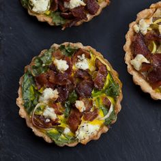 savory winter tarts - perfect for your holiday party!