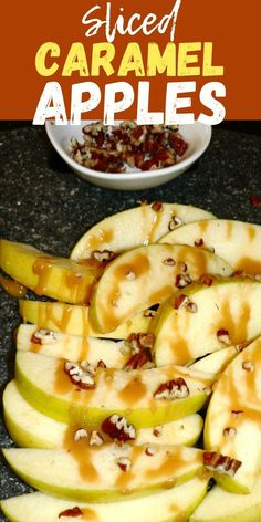 EASY Sliced Caramel Apples Recipe. Sliced apples are much easier to make than regular caramel apples, and are just as delicious. These are the best carmel apple nachos