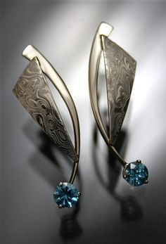 Striking, fresh, original, beautiful!!   Earrings - Portfolio - Art Metals Studio