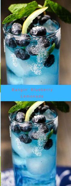 The post Bangin Blueberry Lemonade! Smoothies, Smoothie Drinks, Smoothie Recipes, Milk Shakes, Refreshing Drinks, Summer Drinks, Blueberry Lemonade, Blueberry Vodka Drinks, Vodka Lemonade Drinks