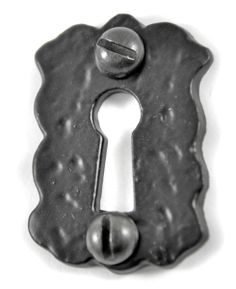 Louis Fraser 312 Escutcheon - Black Finish - This Louis Fraser 312 Escutcheon has a simple rustic design, ideal for use alongside traditional black door furniture. Ideal as an escutcheon for internal or external doors. The escutcheon is cast using traditional methods from high quality iron.