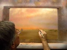 A Gold Beach Scene by Image South artist Peter Polites painted step by step #art