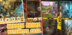 Play this mystery of Hidden Crime & Detective Case and become a real detective Free Android Games, Android Apps, Real Detective, Games For Kids, Google Play, Crime, How To Become, Games For Children, Crime Comics