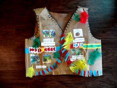 "DIY Native American Paper Vest ""luiseno Tribe"" 3rd Grade Project فيست الهنود الأمريكان للاطفال #nativeamerican #indiansamerican #paperbagvest #diys #kidscraft"