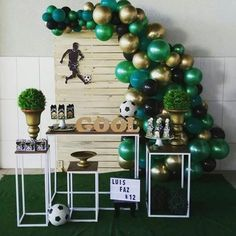 Soccer Birthday Parties, Football Birthday, Soccer Party, 50th Birthday Party, Birthday Balloons, Party Decoration, Balloon Decorations Party, Senior Night Gifts, Birthday Numbers
