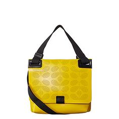 Sixties Stem Punched Leather Ivy Bag Yellow