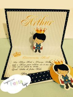Convite Popup (3D) Príncipe