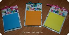 Post It Note Holder ~ Looking for an inexpensive, easy-to-make teacher or co-worker gift? Look no further! I made very simple post it note holders out of clear, acrylic picture frames.