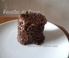 Receitas da Romy: Bolo de caneca light com cacau