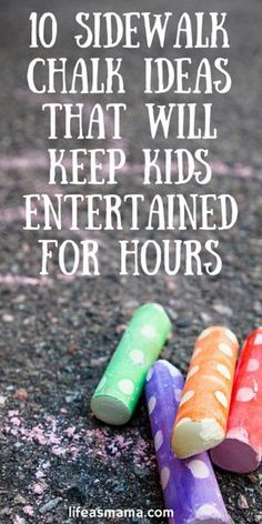 It is without a doubt, one of our favorite childhood past-times. Sidewalk chalk is an inexpensive and fun way to liven up any summertime day, and all it takes is a driveway or sidewalk and some chalk, and voila! Instant canvas for your child's art! Not to mention that it's super fun for grown-ups to get in on the drawing fun, too. These awesome ideas will grab and hold your child's interest for hours on end!